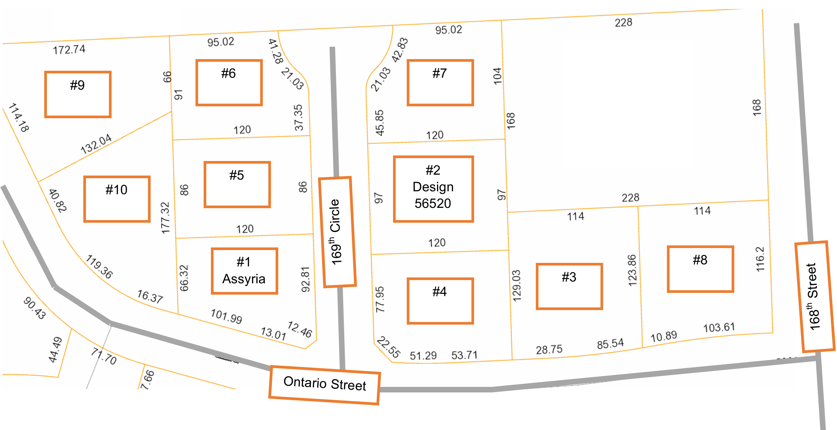 Villas at North Reserve siteplan